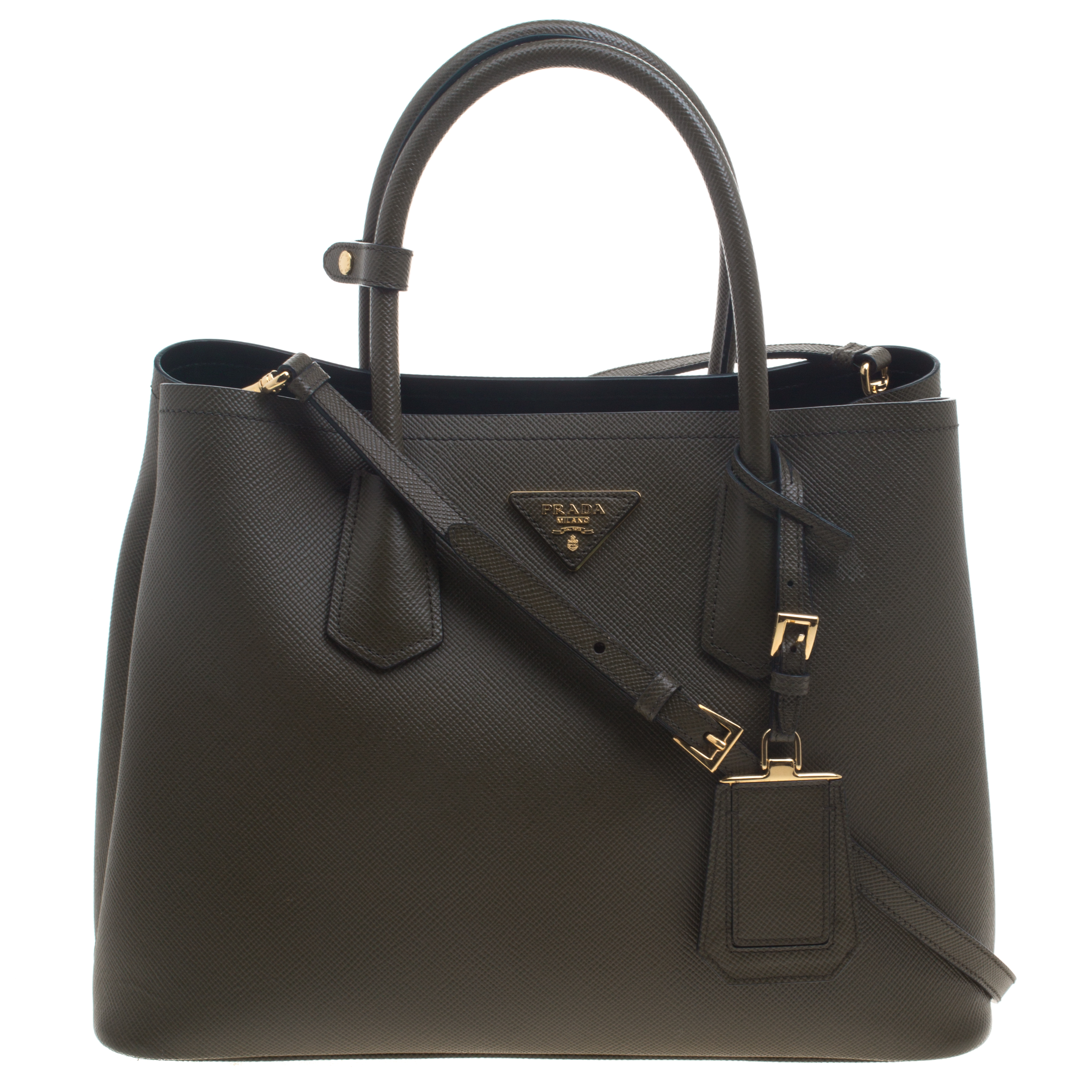acf3464f3907 ... Prada Olive Green Saffiano Cuir Leather Convertible Tote. nextprev.  prevnext