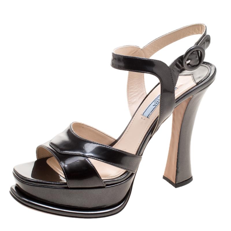 ... Prada Dark Green Patent Leather Platform Sandals Size 39. nextprev.  prevnext 10b68313ae