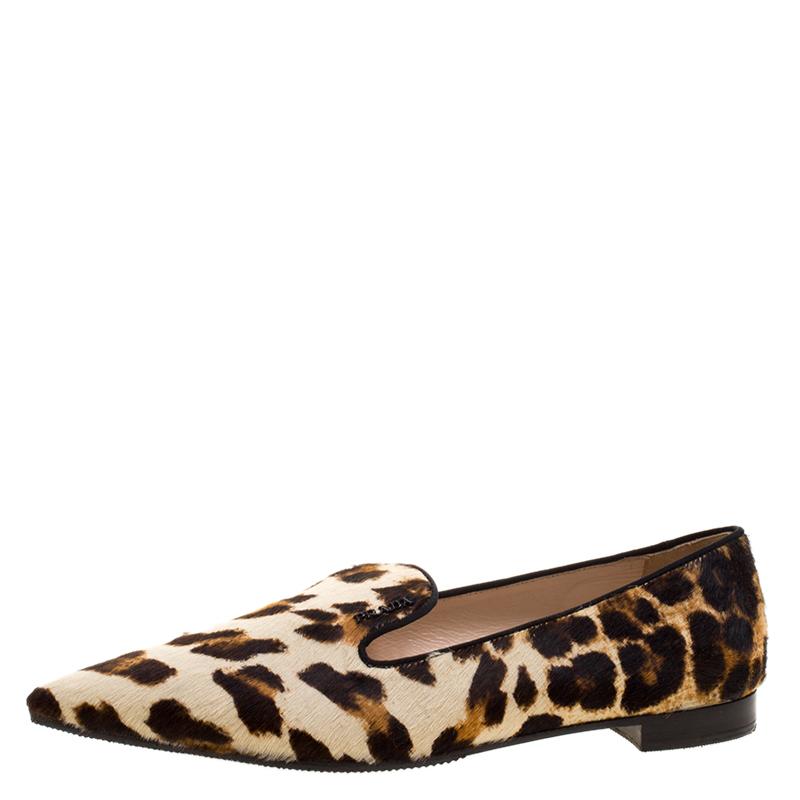 Prada Leopard Print Calf Hair Smoking