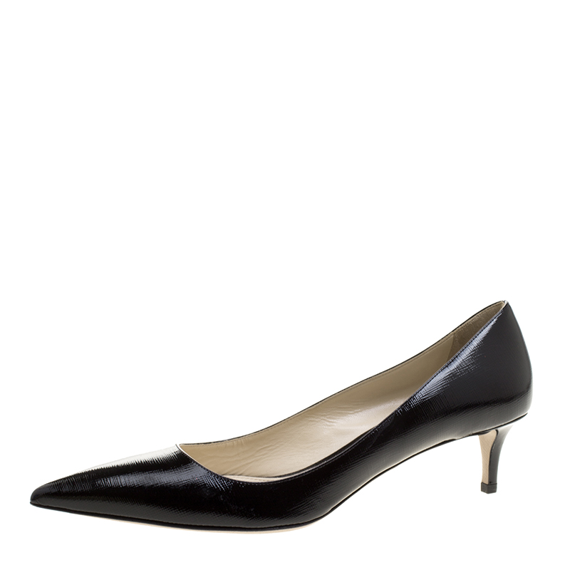 9aae77cf5d ... Prada Black Patent Saffiano Leather Pointed Toe Pumps Size 41.5.  nextprev. prevnext