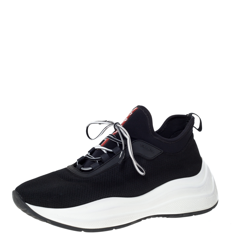 Cup Lace Up Sneakers Size 39.5 Prada | TLC