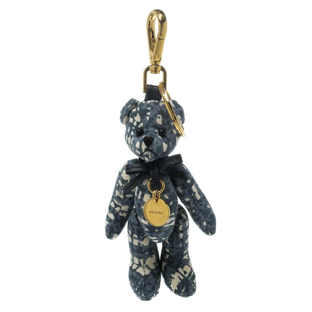 d58075f3043b ... Prada Blue   White Moveable Bear Gold Tone Bag Charm   Keyring.  nextprev. prevnext