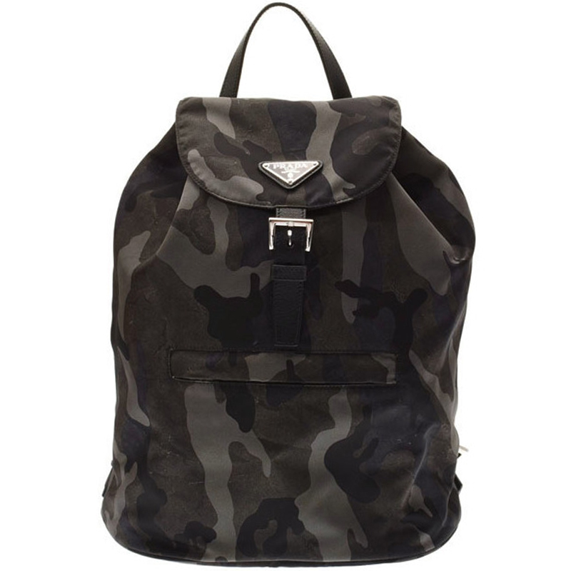 19e38ffcd764 ... Prada Black/Brown Camouflage Print Tessuto Nylon Backpack. nextprev.  prevnext
