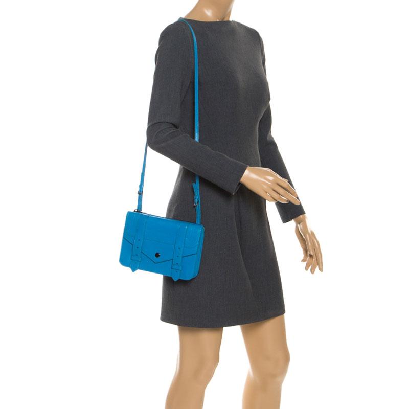 Proenza Schouler en Cuir Bleu PS1 Sac à Bandoulière