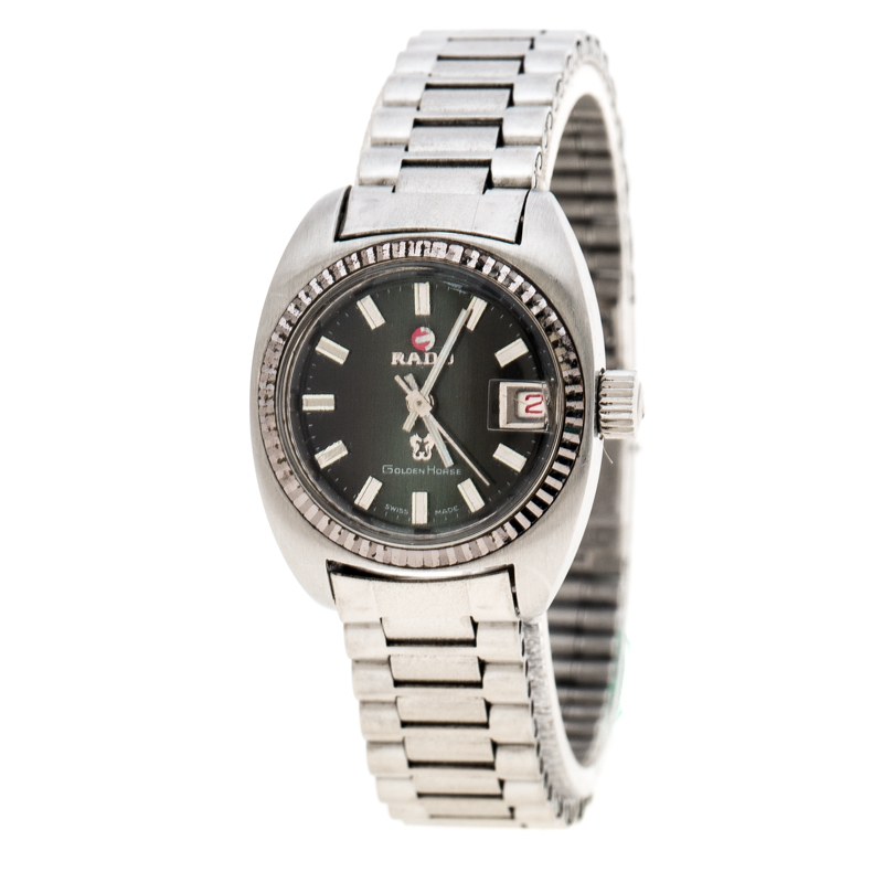 Rado Green Stainless Steel Golden Horse 7004/1 Women's Wristwatch 23 mm