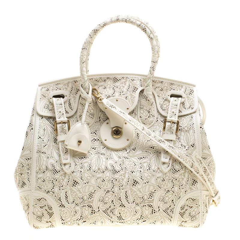 96a828ef78 ... Ralph Lauren Cream Leather Ricky Top Handle Bag. nextprev. prevnext