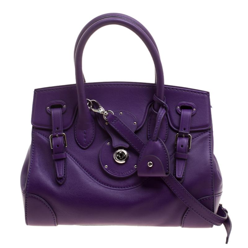 d888f58b950b ... Ralph Lauren Orchid Leather Ricky Top Handle Bag. nextprev. prevnext