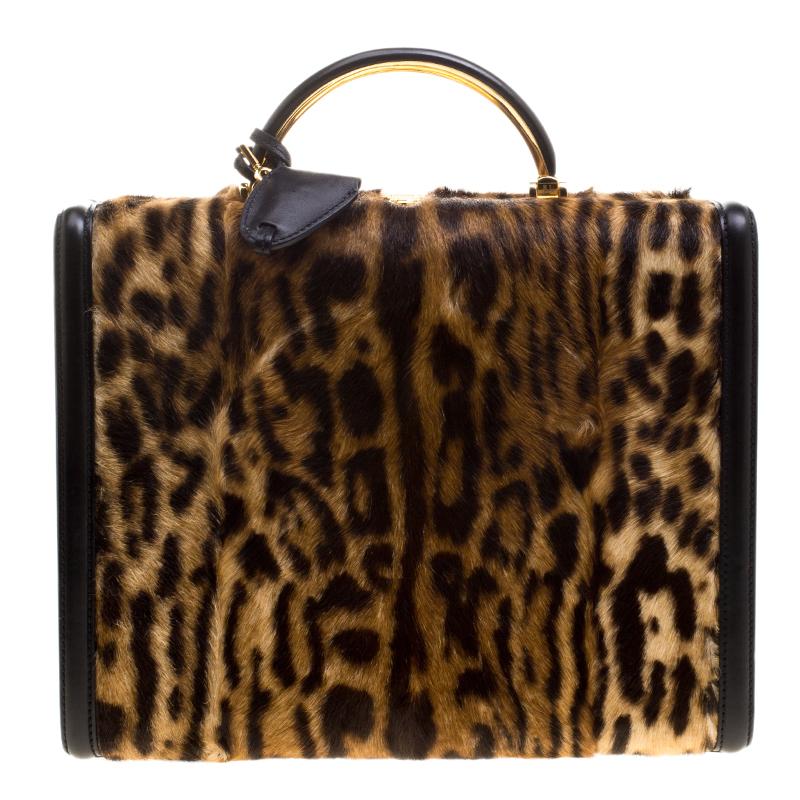 Buy Ralph Lauren Leopard Print Calfhair Satchel 128427 at best price ... 49971a90be4f1