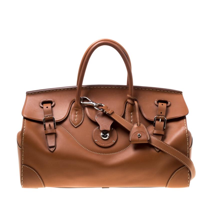 Ralph Lauren Brown Leather East West