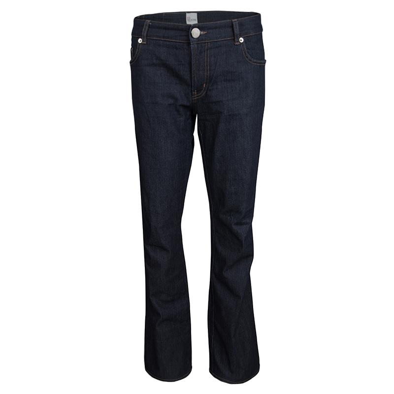 Купить со скидкой Red Valentino Indigo Dark Wash Denim Straight Fit Jeans L