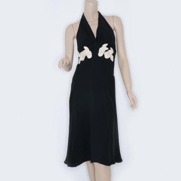 RED Valentino Black Halter Dress