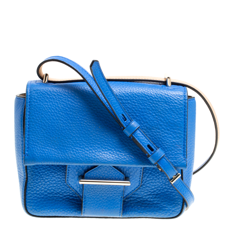 Reed Krakoff Blue Leather Mini Standard Shoulder Bag
