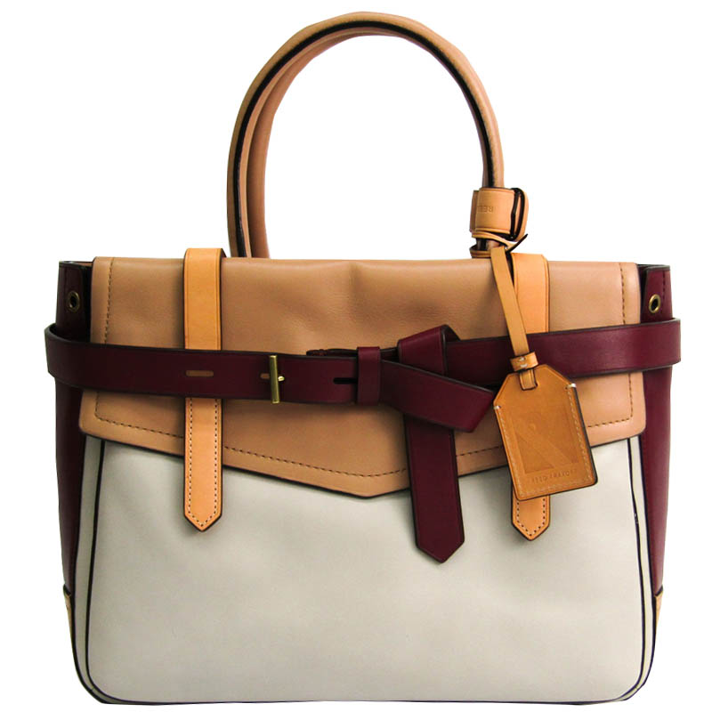 Reed Krakoff Multicolor Leather Gator Boxer II Duffle Bag