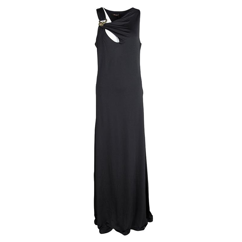 dccb0d11a7 ... Maxi Dress Xl Nextprev Prevnext. Roberto Cavalli Black Dd Knit Snake  Buckle Detail Sleeveless