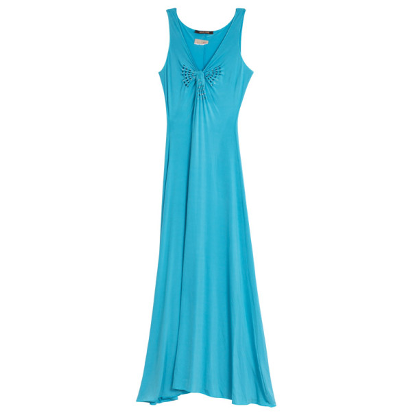 Roberto Cavalli Blue Stretch Long Dress M