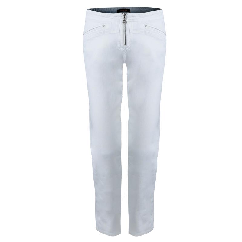 Купить со скидкой Roberto Cavalli White Denim Cropped Jeans L
