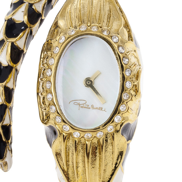 Buy Roberto Cavalli Snake Flower SS Womens Wristwatch 24 MM 21756 at best  price  1660fe64e