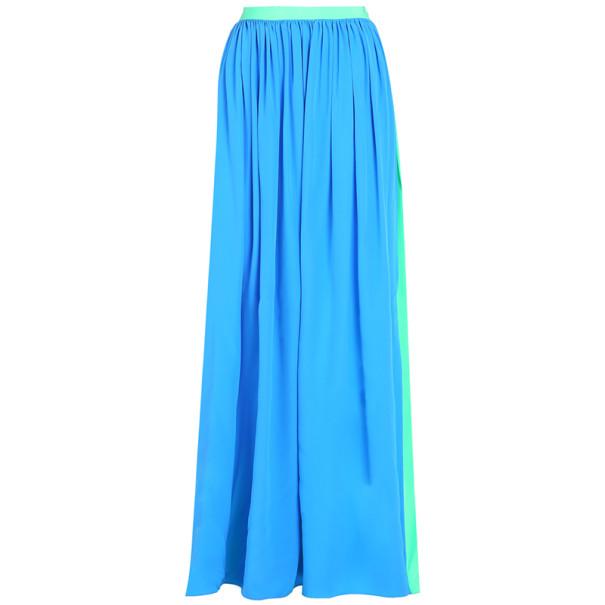 Roksanda Ilincic Paton Cerulean Silk Skirt M