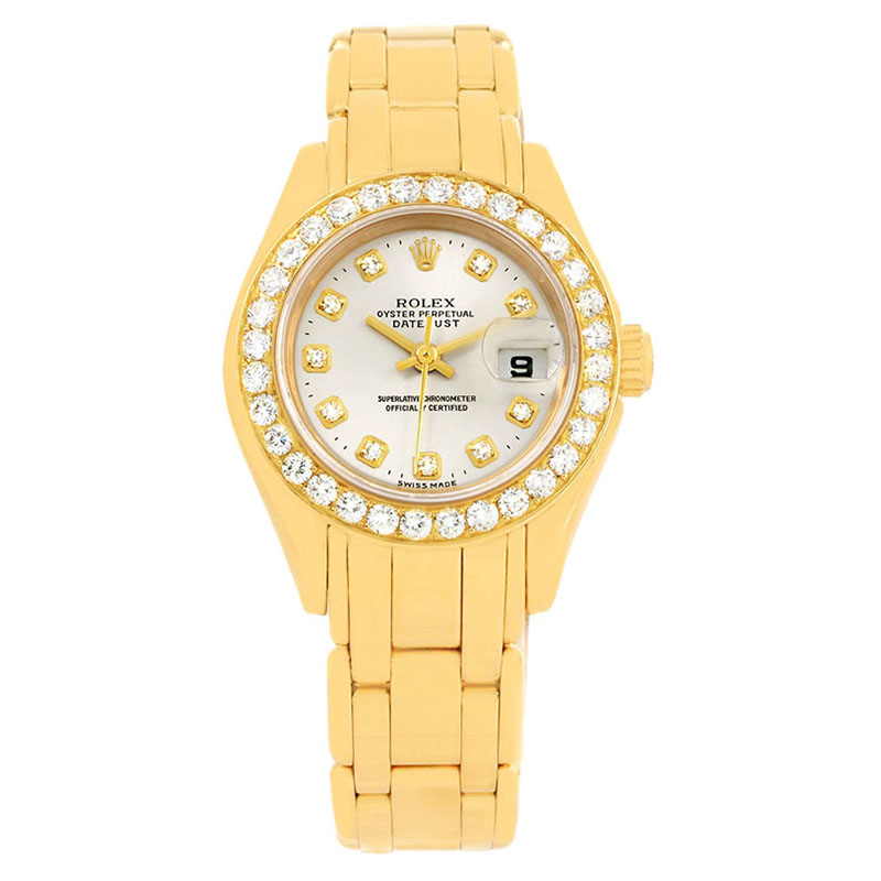 88d3c841d إشتري ساعة يد رولكس بيرلماستر ألماسات ذهب أصفر عيار 18 29مم 113528 ...