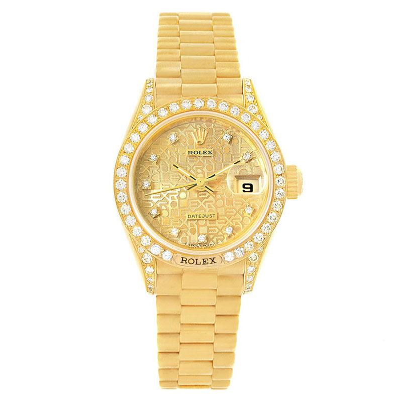ed5e8ad3b إشتري ساعة يد نسائية رولكس ديتجاست بريزدت ألماس ذهب أصفر عيار 18 ...