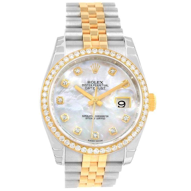 6da342b02 إشتري ساعة يد نسائية رولكس ديتجاست ألماس ستانلس ستيل وذهب أصفر عيار ...