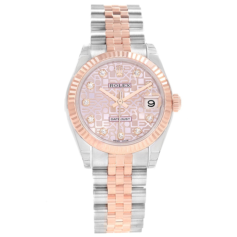 deda3edd59d90 Buy Rolex Pink Jubilee 18K Rose Gold and Stainless Steel Datejust ...