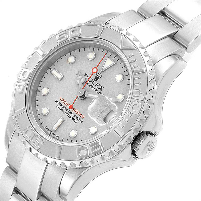 Rolex Platinum Stainless Steel Yachtmaster, Silver