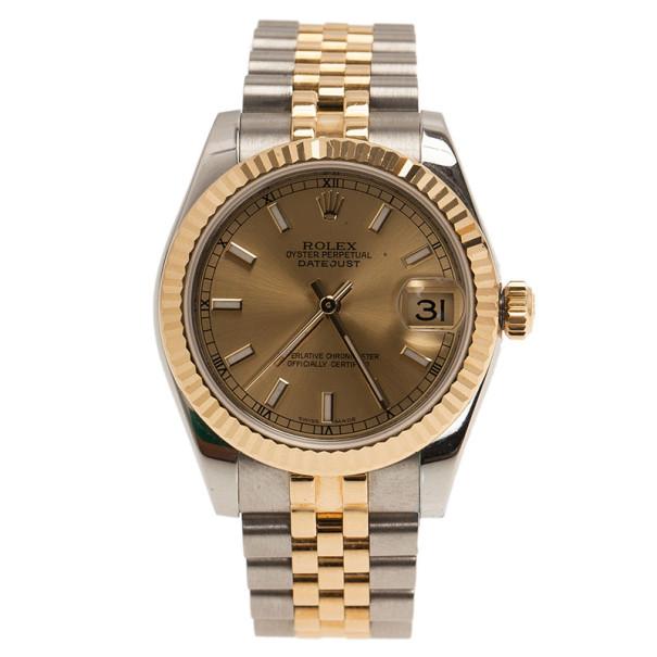 b45277753101c إشتري ساعة رولكس ديت جاست ذهب أصفر عيار 18 وستانلس ستيل للنساء 30مم ...