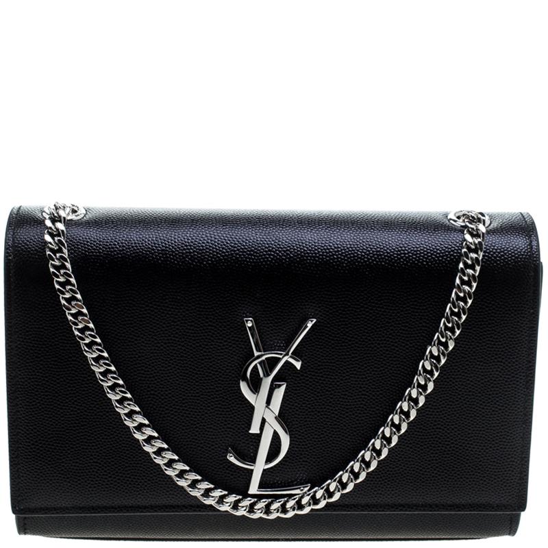 6c9a74aa70 ... Saint Laurent Black Monogram Leather Small Kate Shoulder Bag. nextprev.  prevnext