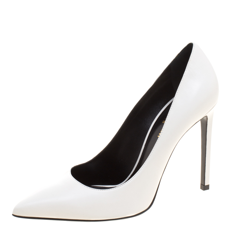 Leather Pointed Toe Pumps