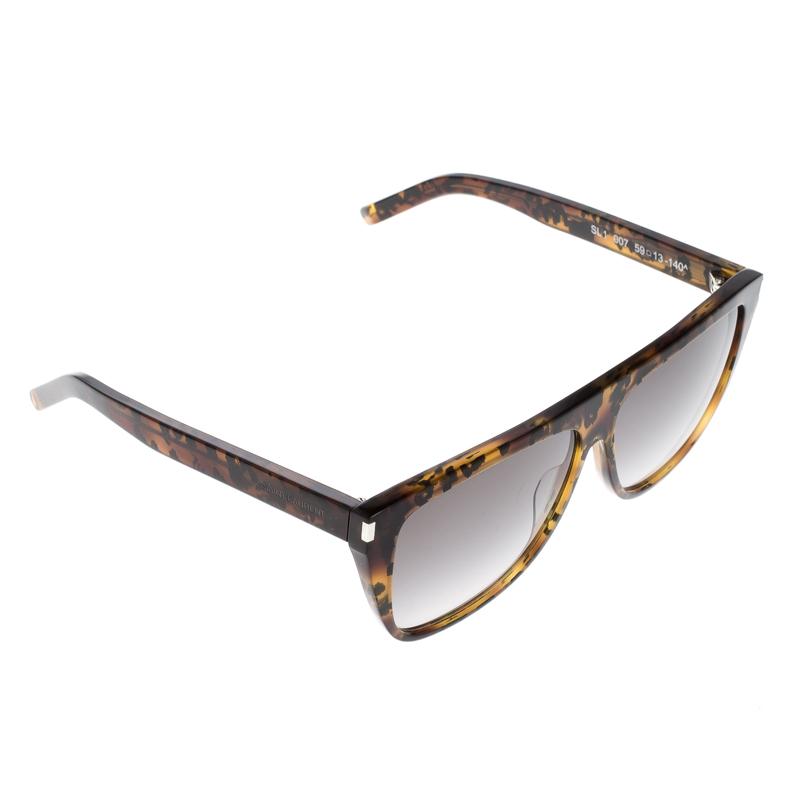 f520c47a83a Buy Saint Laurent Brown Havana SL1 007 Wayfarer Sunglasses 128260 at ...