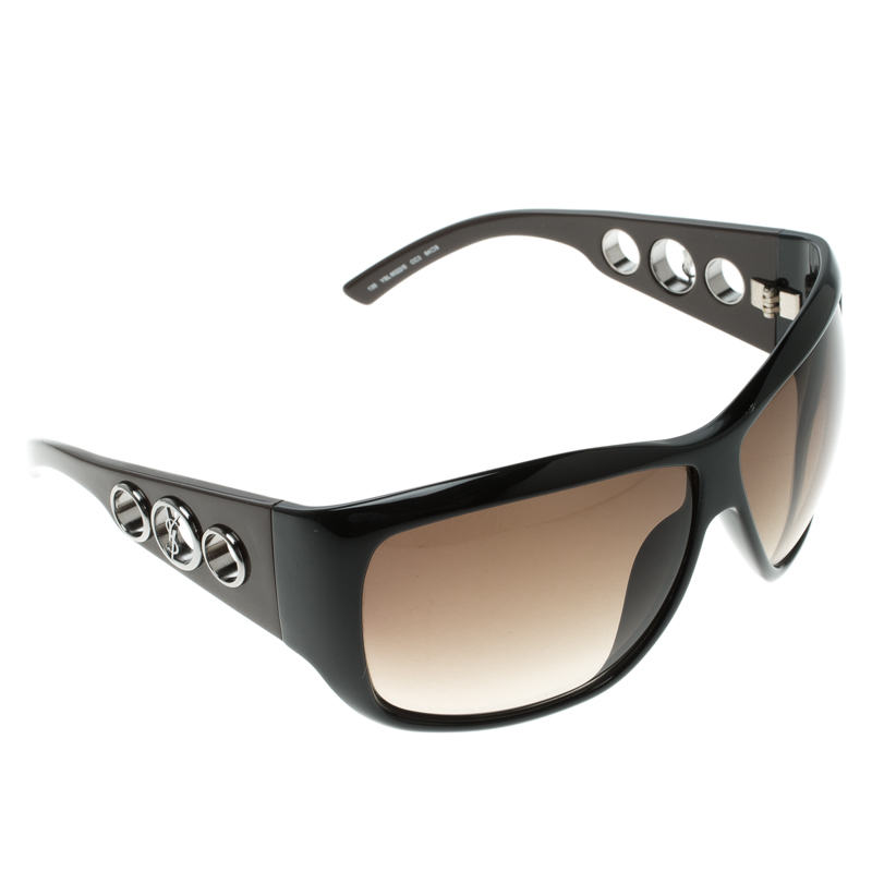 5056e1832e ... Saint Laurent Black Brown YSL 6022 S Oversized Sunglasses. nextprev.  prevnext