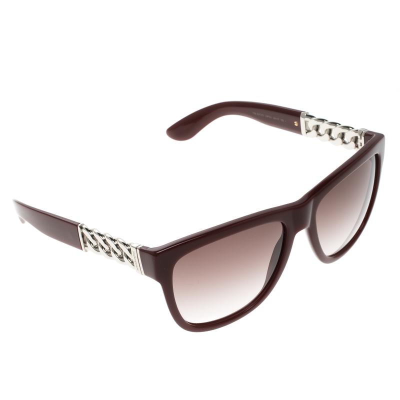 28677241b3 ... Saint Laurent Burgundy YSL 6373 S Wayfarer Sunglasses. nextprev.  prevnext