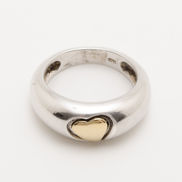 aafdb4df5205 Buy Yves Saint Laurent Silver Heart Ring Size 50 34574 at best price ...