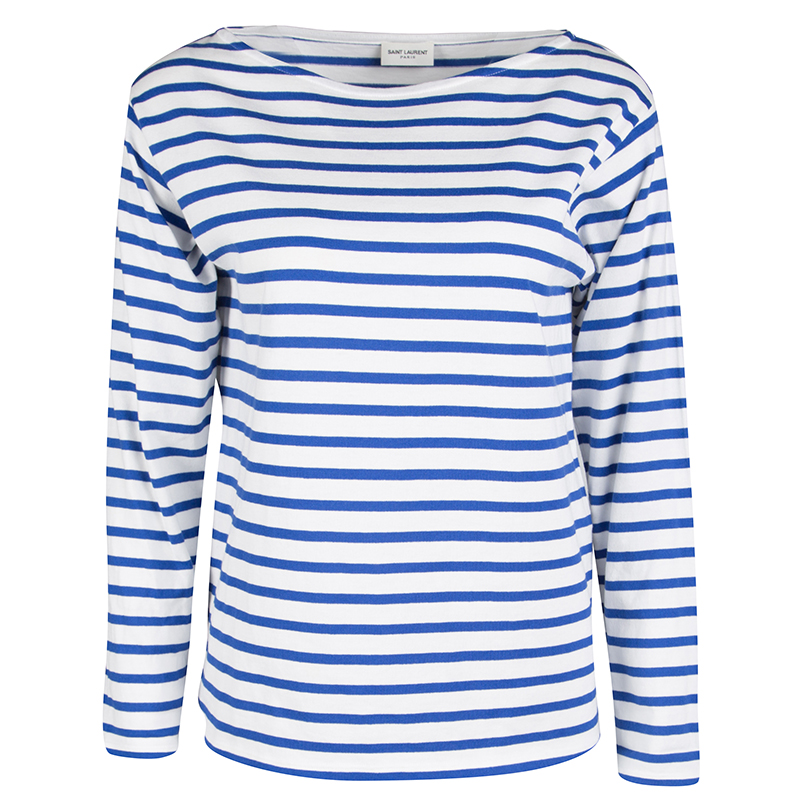 27334322999d89 ... Blue and White Striped Cotton Knit Long Sleeve Top M. nextprev. prevnext