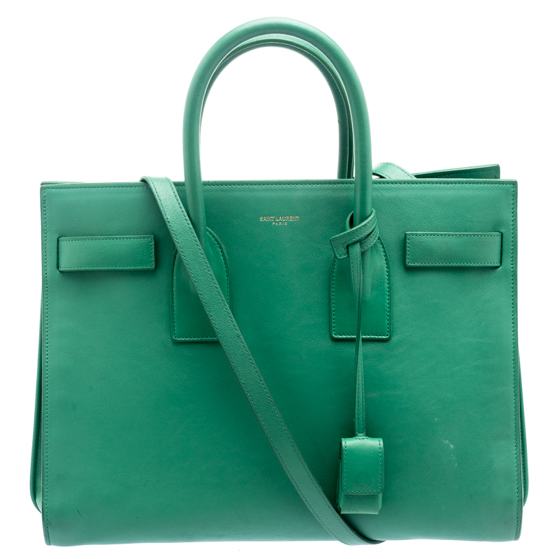 644ff20b41b ... Saint Laurent Paris Green Leather Small Classic Sac De Jour Tote.  nextprev. prevnext