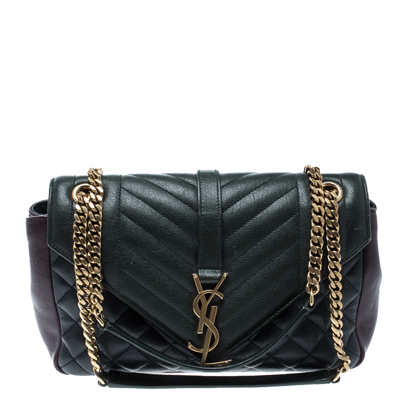 cfc34ff8dc6 Buy Saint Laurent Multicolor Matelasse Leather Envelope Shoulder Bag ...