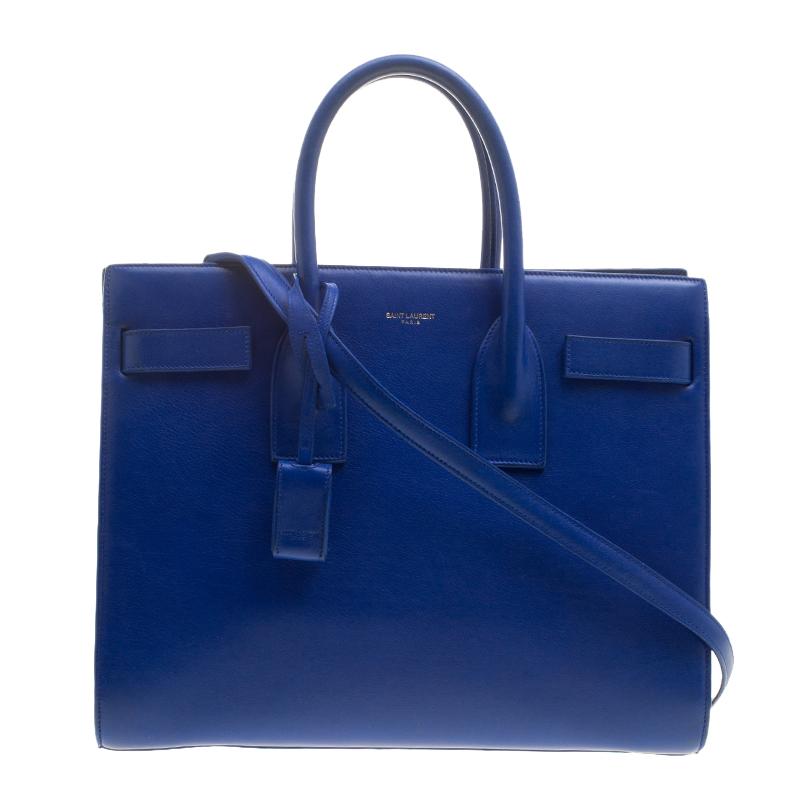 3db59fae141 ... Saint Laurent Blue Leather Small Classic Sac De Jour Tote. nextprev.  prevnext