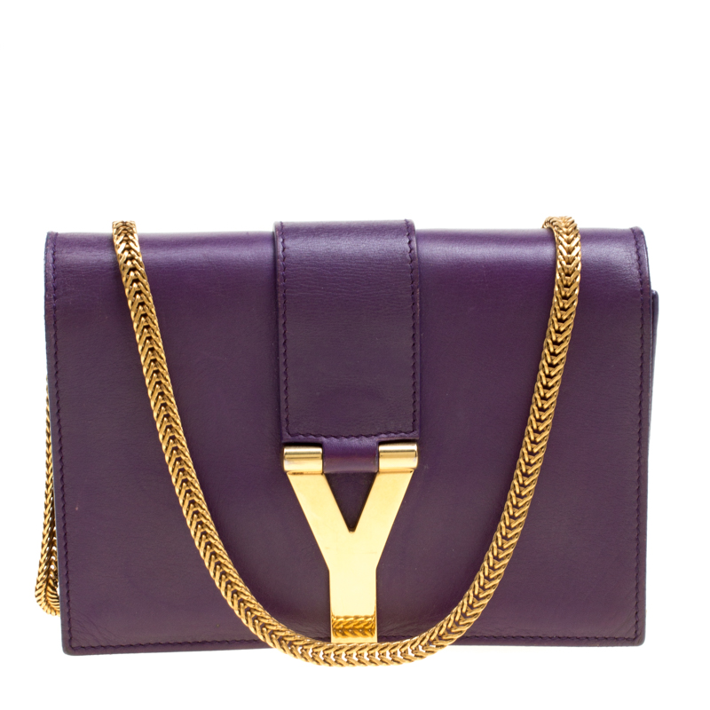 bc00e2038b ... Saint Laurent Purple Leather Mini ChYc Crossbody Bag. nextprev. prevnext