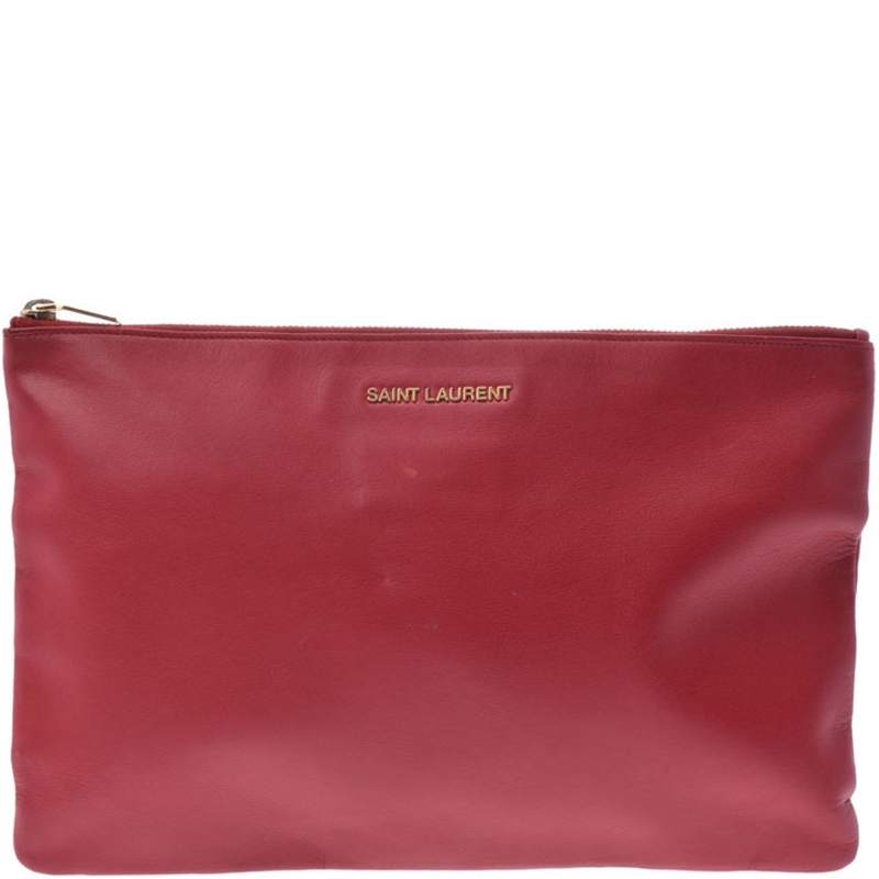 f8b2bf75bce ... Saint Laurent Paris Red Smooth Leather Pouch Bag. nextprev. prevnext