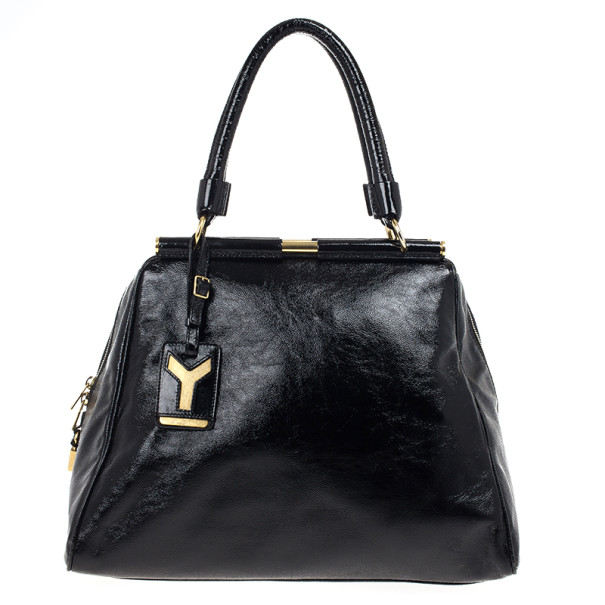 7d43fe494b ... Laurent Black Patent Leather Majorelle Satchel Bag. nextprev. prevnext