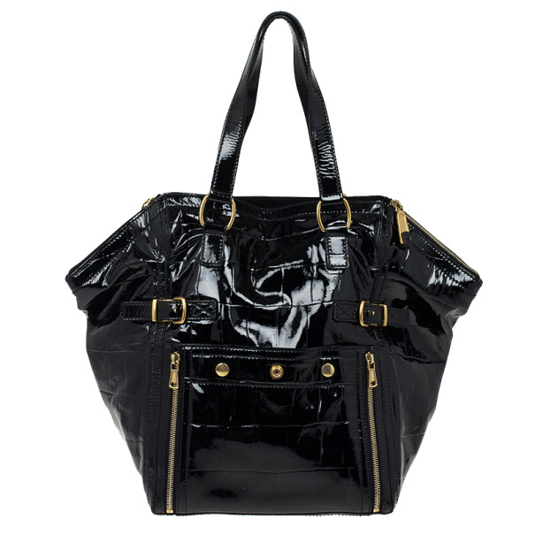 d9ea6770feb Buy Yves Saint Laurent Black Patent Leather Downtown Tote Bag 23469 ...