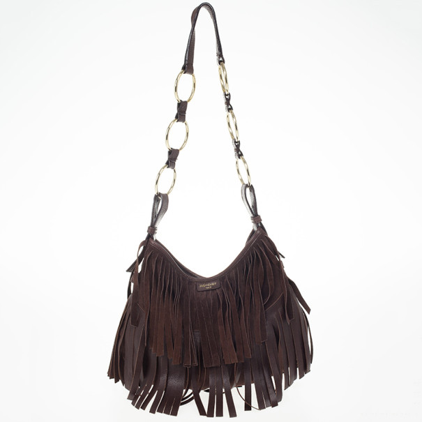 07eba3cbb85 Buy Yves Saint Laurent Brown Boheme Fringe Hobo 24063 at best price ...