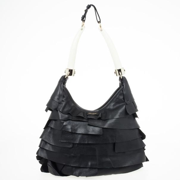 60ed50cd20eb Buy Yves Saint Laurent Black St.Tropez Mombasa Hobo 30536 at best ...
