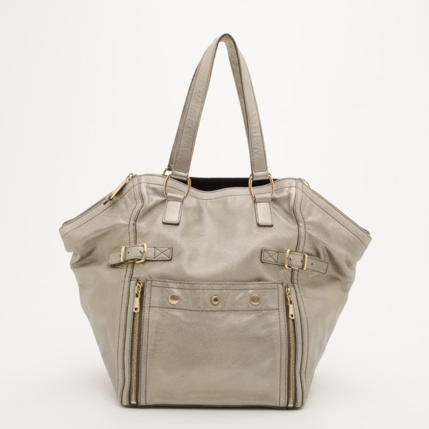 Buy Yves Saint Laurent Large Silver Downtown Bag 37209 at best price ... 62148ffc5aad0