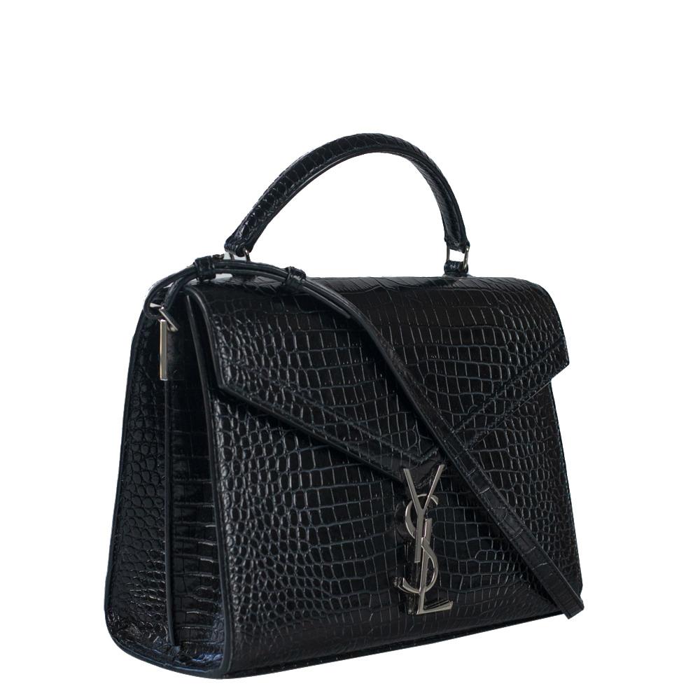 Saint Laurent Paris Black Leather Cassandra Shoulder Bag  - buy with discount