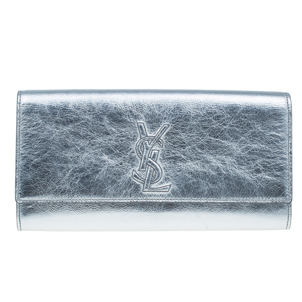 ec6dd5fd66 ... Silver Patent Leather 'Belle De Jour' Flap Clutch. nextprev. prevnext