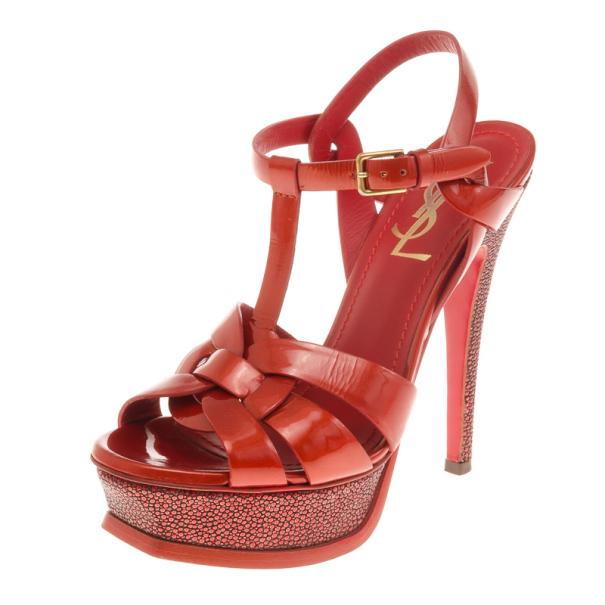 4d46492f089 ... Saint Laurent Paris Red Stingray Heel Tribute Platform Sandals Size  35.5. nextprev. prevnext
