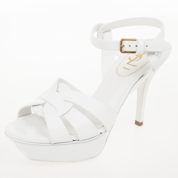59fda4e36 ... Yves Saint Laurent White Leather Tribute Sandals Size 35. nextprev.  prevnext