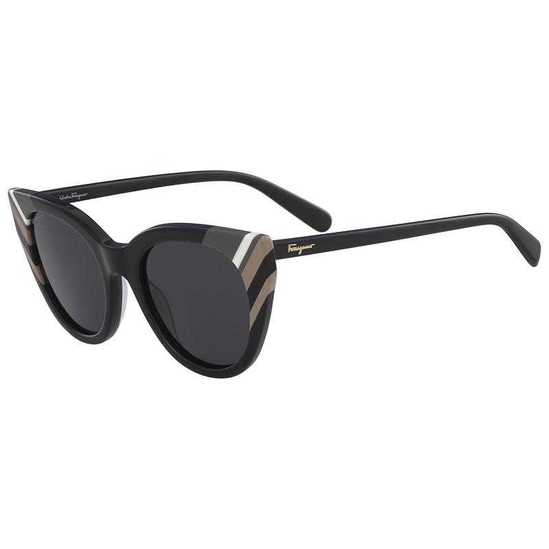 f864ef366830 Salvatore Ferragamo Black SF867S Cat Eye Sunglasses. nextprev. prevnext